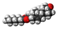 Dehydroepiandrosterone enanthate molecule spacefill.png