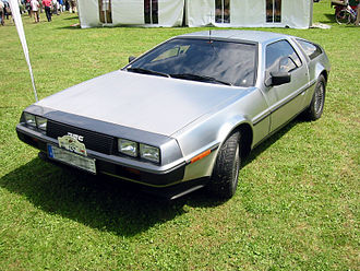 Brushed metal - A DeLorean DMC-12 featuring non-structural brushed stainless steel panels