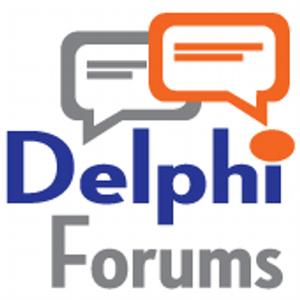 Delphi (online service) - Delphi Forums logo 2016