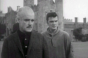 Patrick Magee (actor) - Patrick Magee (on left) and William Campbell in Dementia 13 (1963)