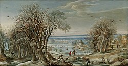 Denis van Alsloot - A View of the Abbey of Groenendael Near Brussels in Winter.jpg