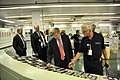 Deputy Secretary Daniel Poneman observes instrumentation in the X-333 Process Building Control Room during his visit to the Portsmouth Gaseous Diffusion Plant. (4990203350).jpg
