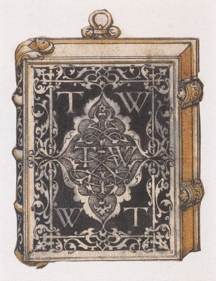 Design for a metalwork book cover, by Hans Holbein the Younger