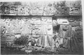Detail of walls on ruins in Mexico or Central America - NARA - 523617.tif