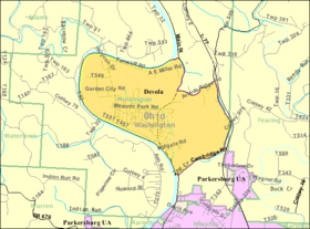 Detailed map of Devola, Ohio.png