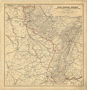 Deutsch-französische Grenzländer, mit genauer Einzeichnung der französischen Befestigungs-Anlagen.