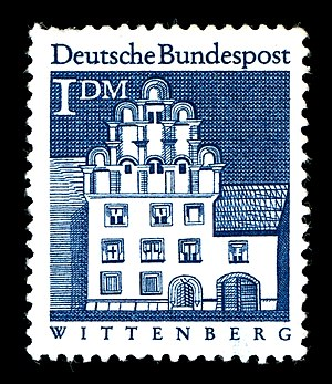 Melanchthonhaus (Wittenberg) - The Melanchthonhaus on a German stamp