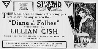 Diane of the Follies - Newspaper advert for the film