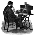 Dictation using cylinder phonograph.png