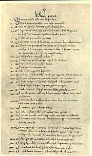 <i>Dictatus papae</i> Compilation of 27 statements of powers arrogated to the pope