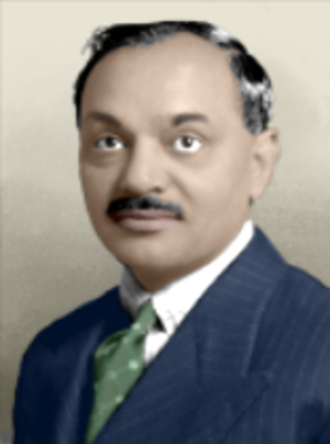 Digvijaysinhji Ranjitsinhji - Colorized picture of Digvijaysinhji Ranjitsinhji, Maharaja Jam Sahib of Nawanagar from 1933 to 1948
