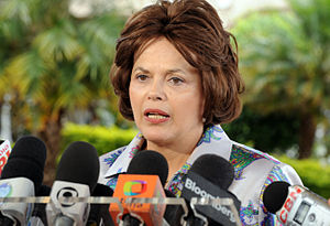 Português: A ministra-chefe da Casa Civil, Dil...
