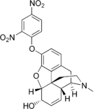 Chemical structure of 2,4-Dinitrophenylmorphine.