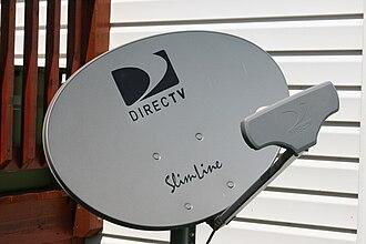 "DirecTV - DirecTV AU9-S 3-LNB ""Slimline"" satellite dish"