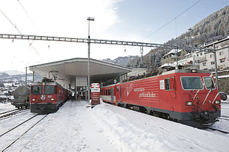 Disentis/Mustér railway station - Trains at Disentis/Mustér station