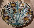 Dish with tulips, London, England, 1670-1690, tin-glazed earthenware - Winterthur Museum - DSC01346.JPG