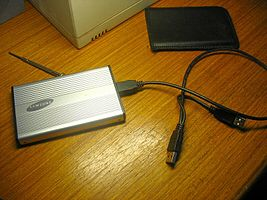 example of an External Hard Drive - recommended for storage of large downloads