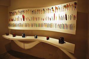 Gonzalo Tassier - Part of Tassier's pencil collection at the Museo del Objeto del Objeto in Mexico City.