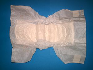 Disposable diaper, size 12-25kg/26-55lb.