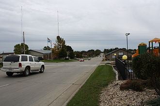 Dodgeville, Wisconsin - Looking south at the intersection of US 18 with WIS 23 in Dodgeville
