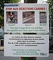 Dog droppings notice in Paris.jpg