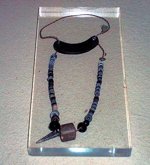 Marvão - Necklace found among grave goods at a dolmen in Marvão (3rd millennium BCE)