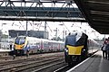 Doncaster - Hull Trains 180110 pasisng Grand Central 180107.JPG
