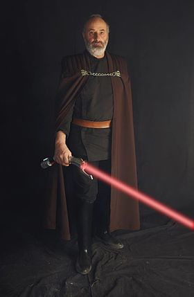 Cosplay du Comte Dooku durant Générations Star Wars et Science Fiction 2014.