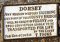 Dorset Sturminster Newton Bridge notice.jpg