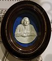 Dr Erasmus Darwin, by William Hackwood after Joseph Wright of Derby, c. 1780, white jasper with blue dip, white relief - Wedgwood Museum - Barlaston, Stoke-on-Trent, England - DDSC09616.jpg