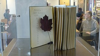 Clara Oswald - Clara's book of 101 Places to See and the leaf, as shown at the Doctor Who Experience.