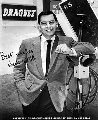 Dragnet (radio series) - Promotional photo or card sent to viewers and listeners of the program during the time the show was on both radio and television.