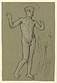 Drawing, figure study for a fountain design, ca. 1890 (CH 18404469).jpg