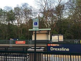 Drexeline station SEPTA trolley station