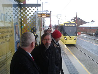 Droylsden tram stop - Droylsden Metrolink station shortly before opening