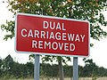 Dual carriageway removed sign - geograph.org.uk - 992482.jpg