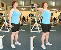 Dumbbell lateral raise.