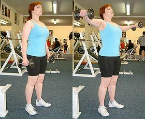 Fly (exercise) - Dumbbell shoulder fly