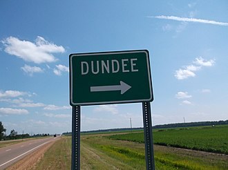 Dundee, Mississippi - Image: Dundee MS Highway Sign