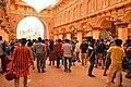 Durga Puja Pandal Interior With Visitors - Ballygunge Durga Puja Samiti - Maddox Square - Kolkata 2017-09-26 3967.JPG