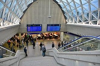 Warszawa Zachodnia station - Image: Dworzec Warszawa Zachodnia hala główna 2017