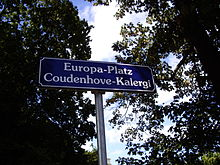 Billedresultat for Richard von Coudenhove-Kalergi platz
