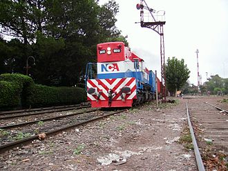 Nuevo Central Argentino - An NCA freight train near Escobar station.