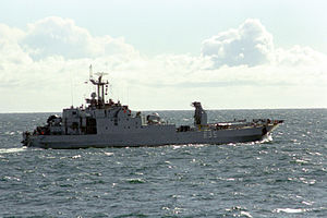 Volksmarine - The Frosch II class support ship Nordperd