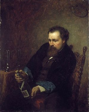 Eastman Johnson - Self-portrait of Eastman Johnson, 1863