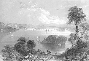 Passamaquoddy Bay - Eastport and Passamaquoddy Bay, 1839, by William Henry Bartlett