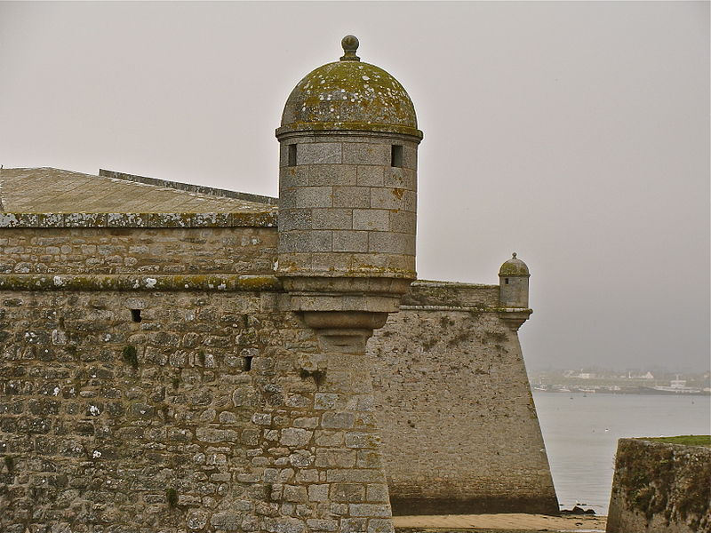 A view of Fortress in Port-Louis, Morbihan, Brittany, France