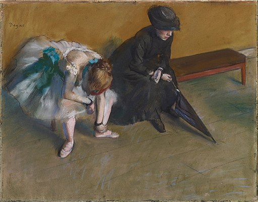 Edgar Degas - Waiting - Google Art Project