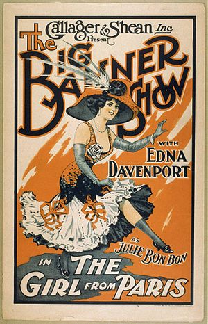 Frank Tinney - Illustration of Edna Davenport