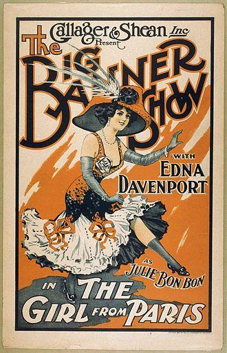 Frank Tinney - Illustration of Edna Davenport